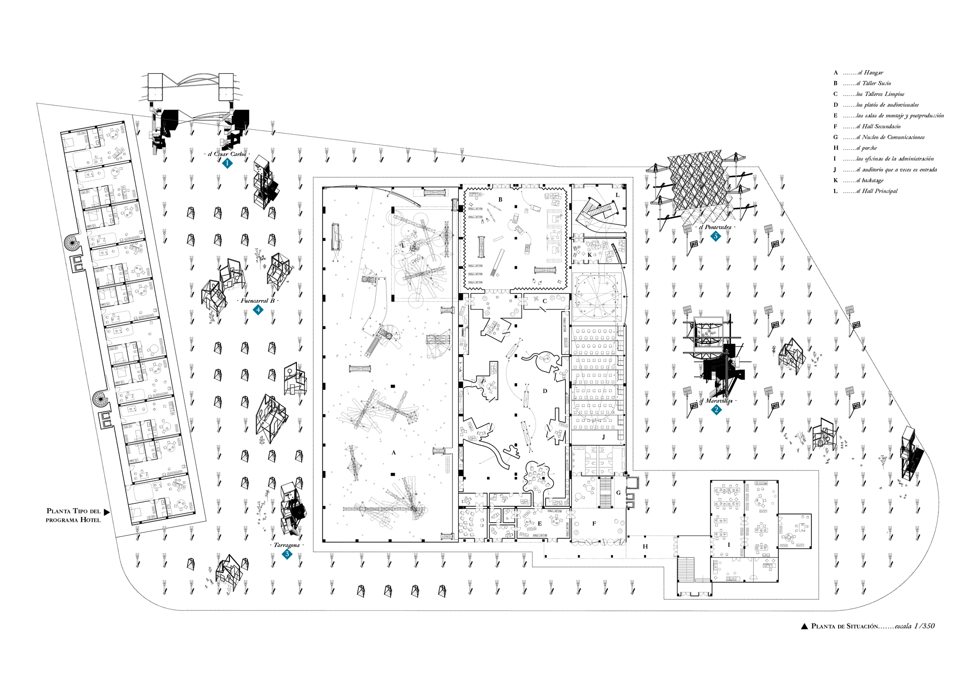 Site Plan of Cultural Factory Pedro Pitarch