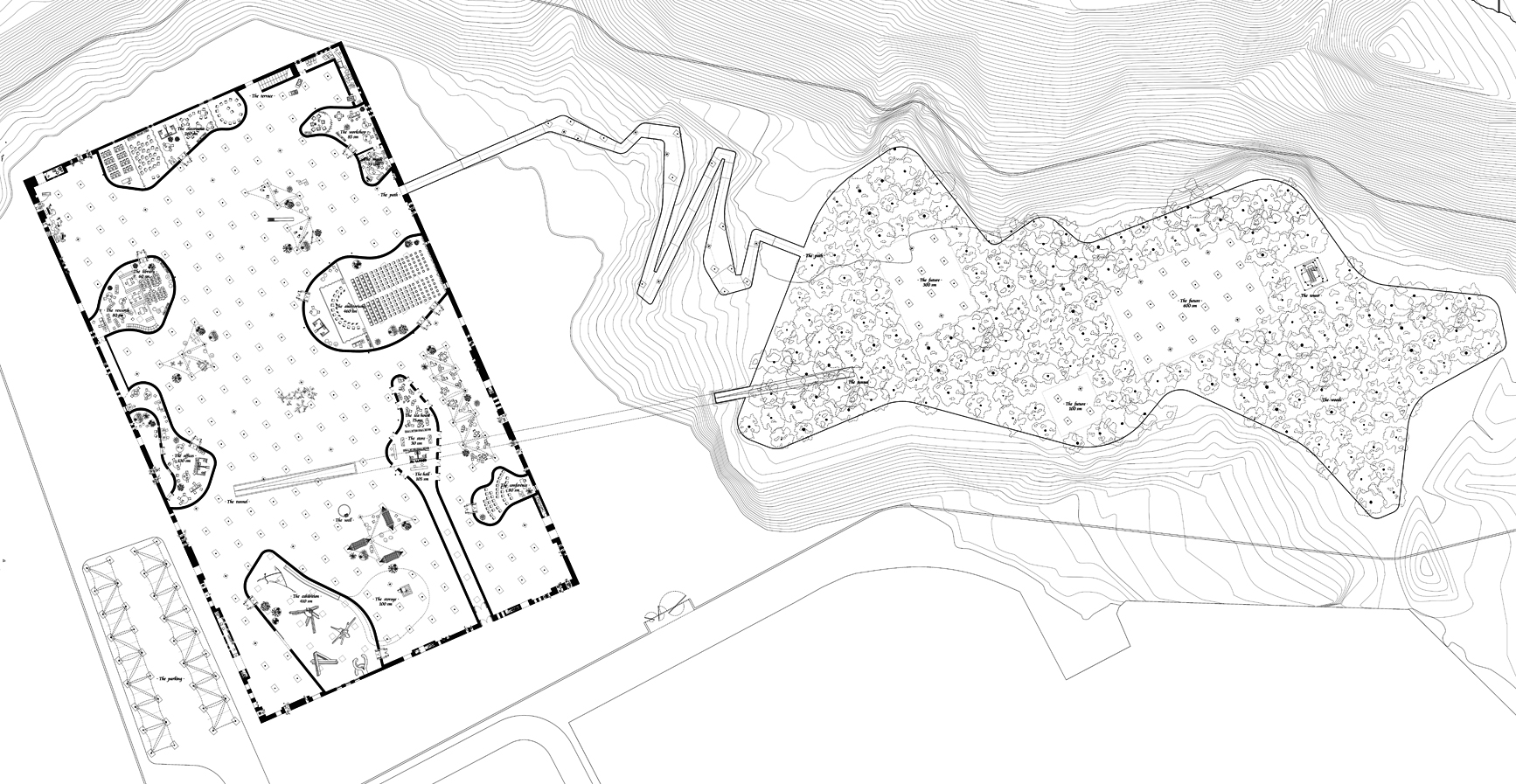 Plan Bamiyan Cultural Centre by Pedro Pitarch