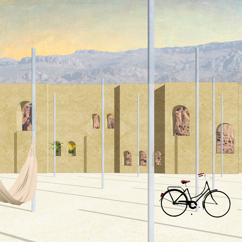 Image Wall of Bamiyan Cultural Centre by Pedro Pitarch