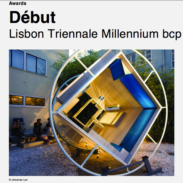 Debut Award Lisbon Triennale Architecture Pedro Pitarch